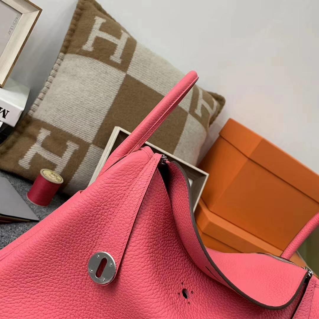 Hermès(爱马仕)U5 唇膏粉 原厂御用顶级TC皮 Lindy 30 银扣