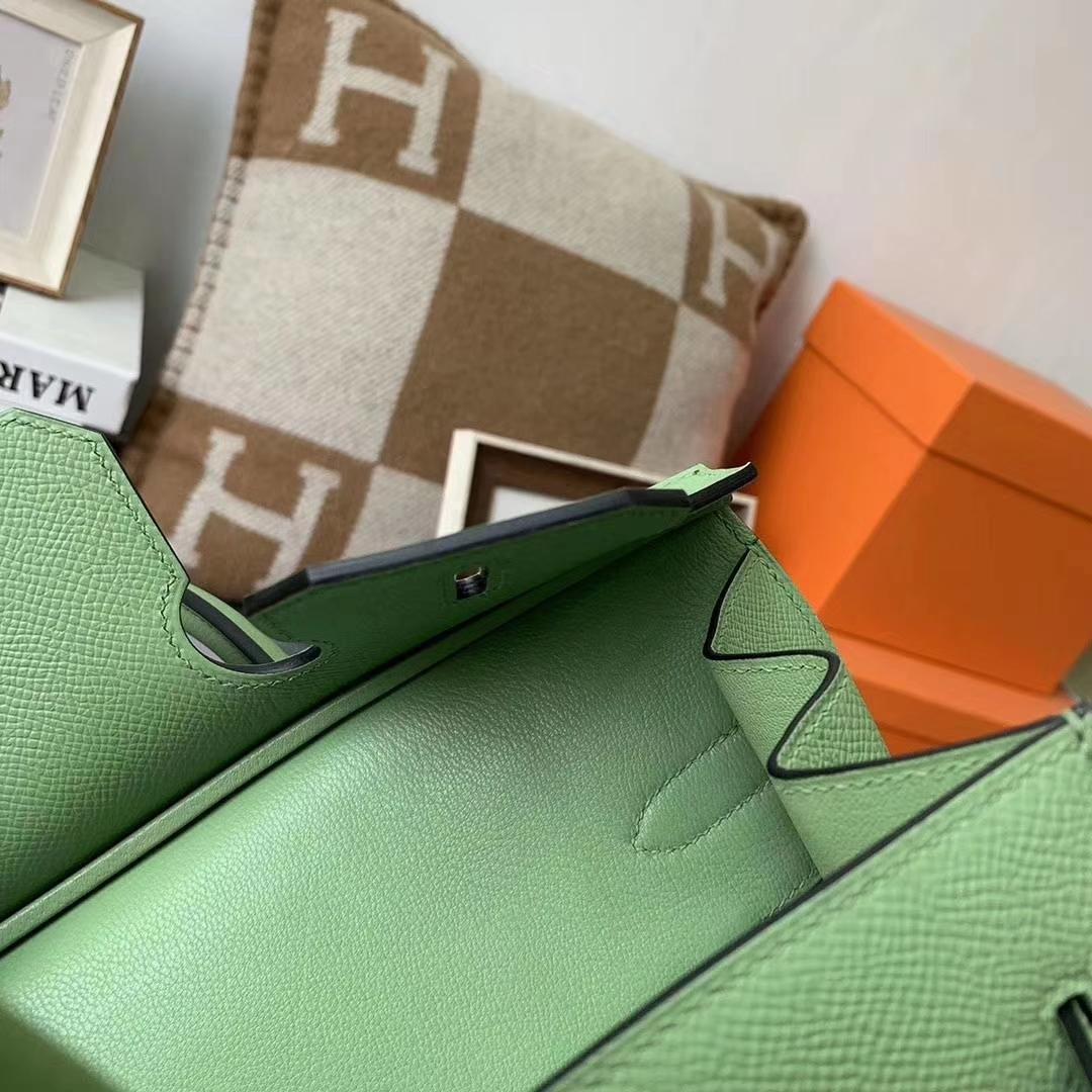 Hermès(爱马仕)I3牛果油绿 原厂用御顶级Epsom 皮 Birkin 30 外缝 金扣