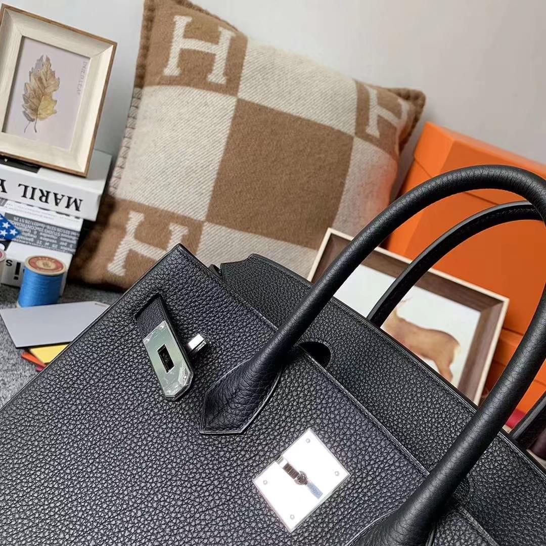 Hermès(爱马仕)CK89黑色 原厂御用顶级小牛皮 Birkin 30 银扣 现货