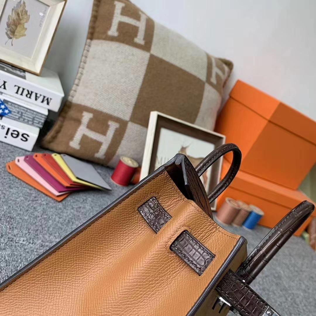 Hermès(爱马仕)C37金棕色 Birkin 房子包 20cm Sellier 小房子 现货