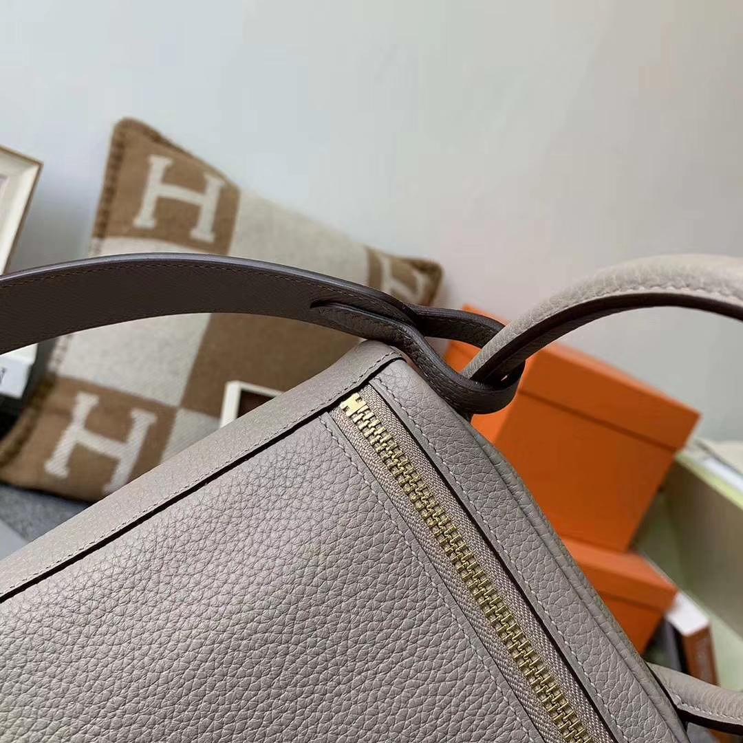 Hermès(爱马仕)M8沥青灰 原厂御用顶级TC皮 lindy30 银扣 肩带epsom 编织手柄