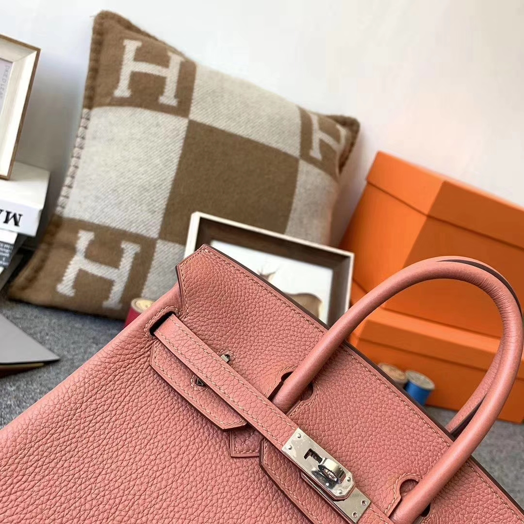 Hermès(爱马仕)新色 枫叶棕 原厂御用顶级小牛皮 Birkin 25 银扣 现货