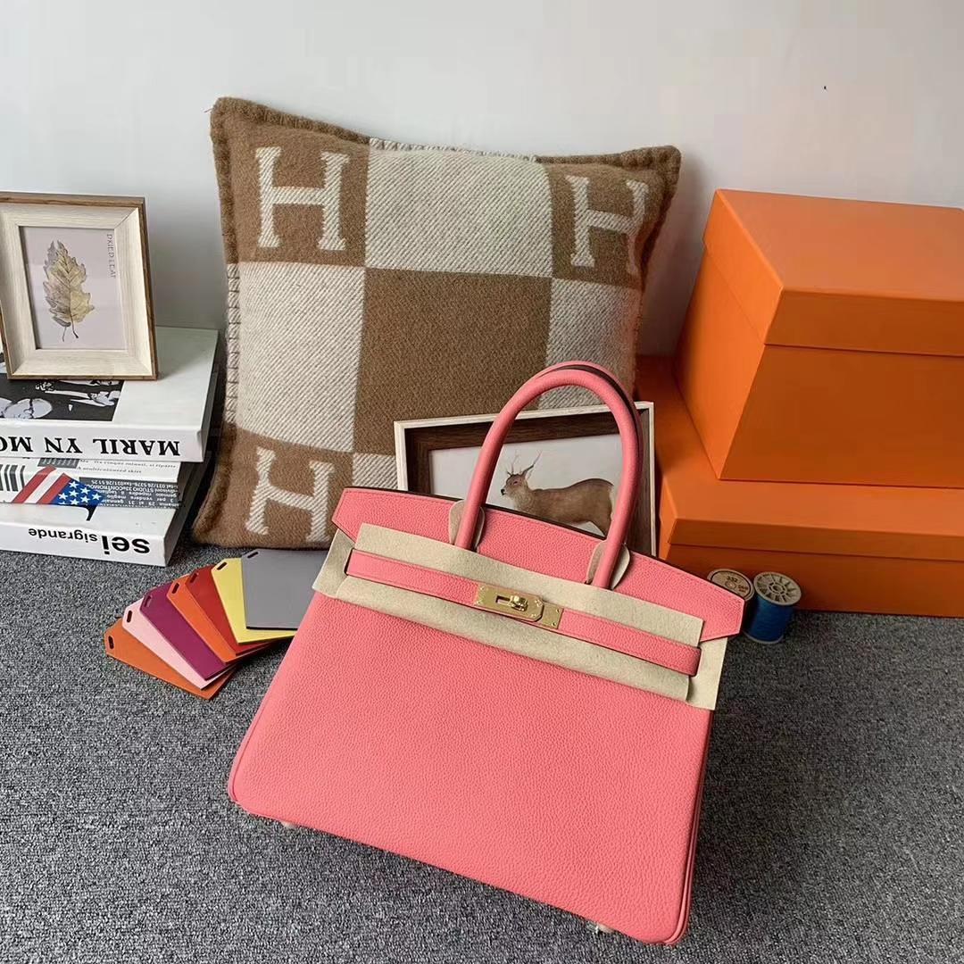 Hermès(爱马仕)U5唇膏粉 原厂御用顶级小牛皮 Birkin 30 金扣 现货