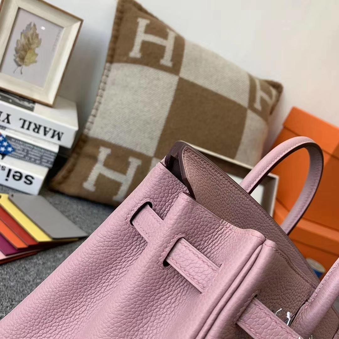 Hermès(爱马仕)4W紫藤色 原厂御用顶级小牛皮 Birkin 25 银扣 现货