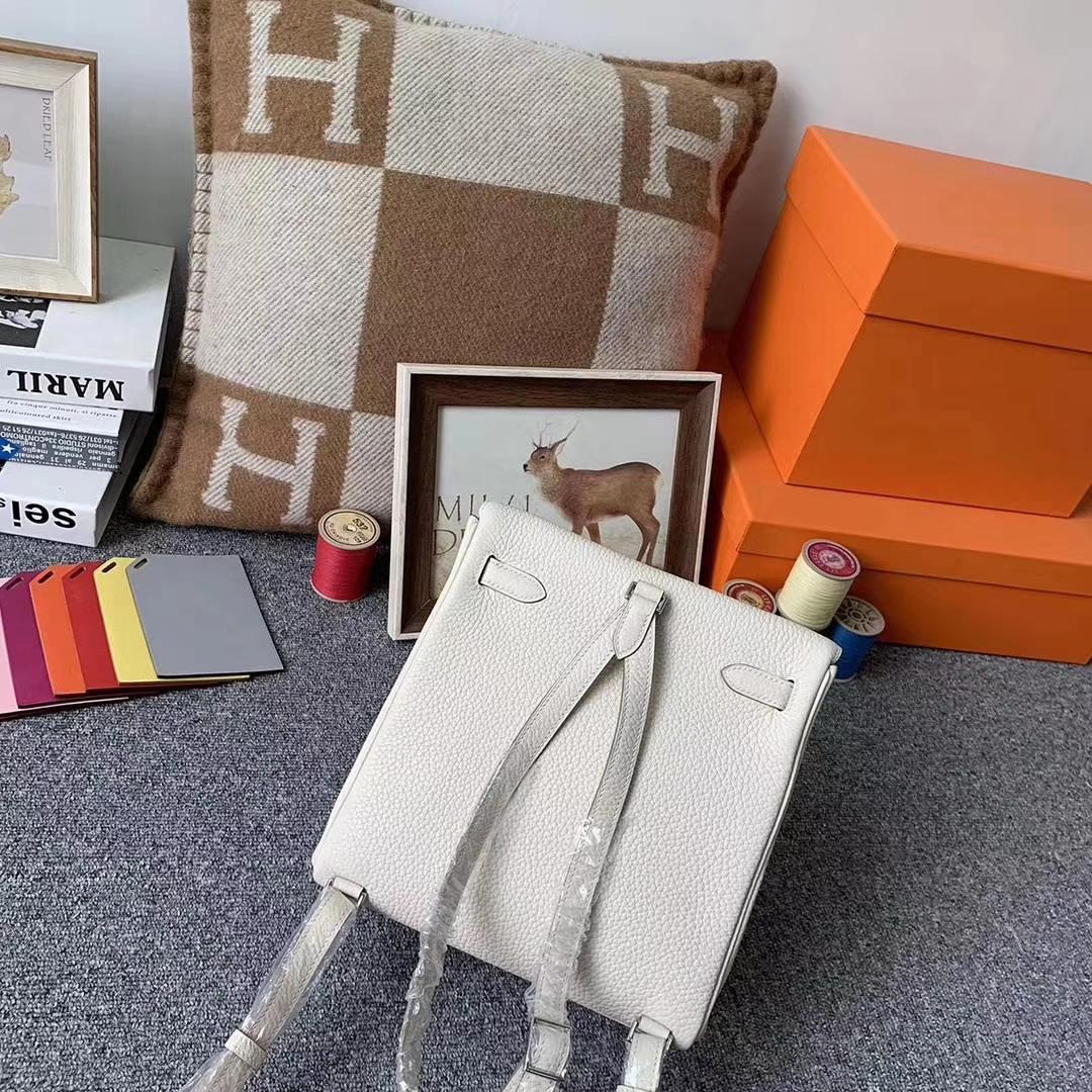 Hermès(爱马仕)奶昔白 原厂御用顶级TC皮 Kelly ado 银扣 现货
