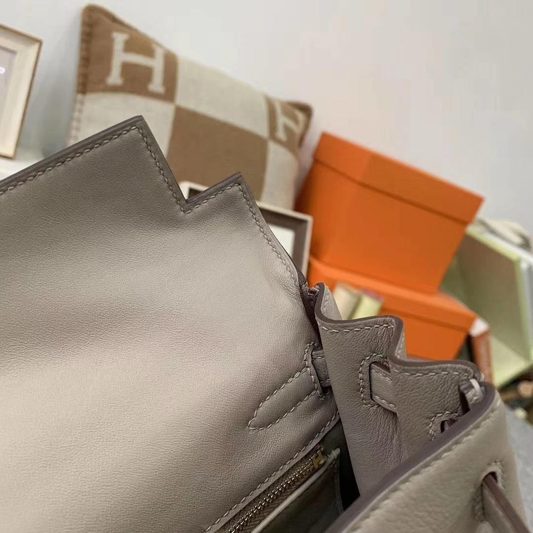Hermès(爱马仕)M8 沥青灰 原厂御用顶级Swift 皮 Kelly 25 内缝 金扣