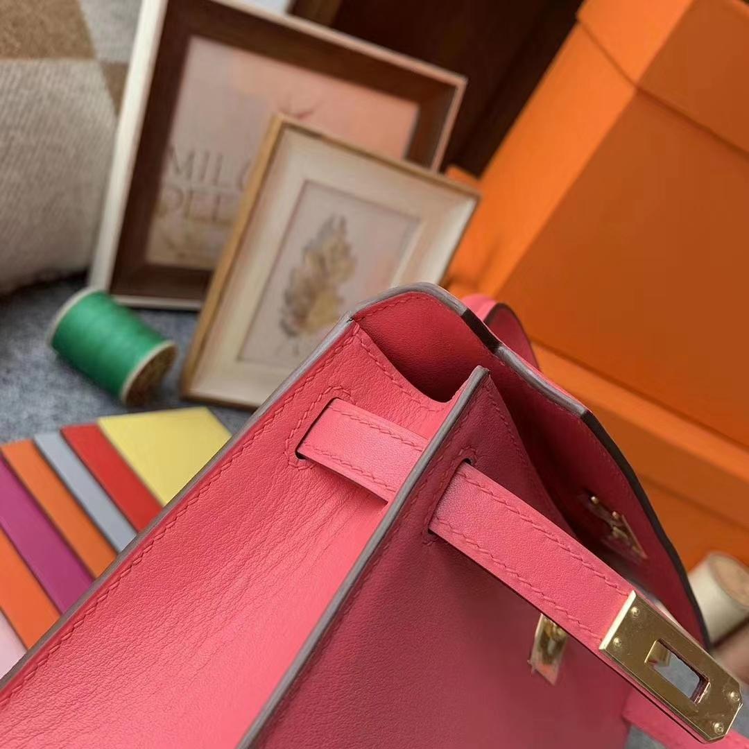 Hermès(爱马仕)8W新膏唇粉 原厂御顶用级Swift 皮 Mini Kelly 二代 金扣 现货
