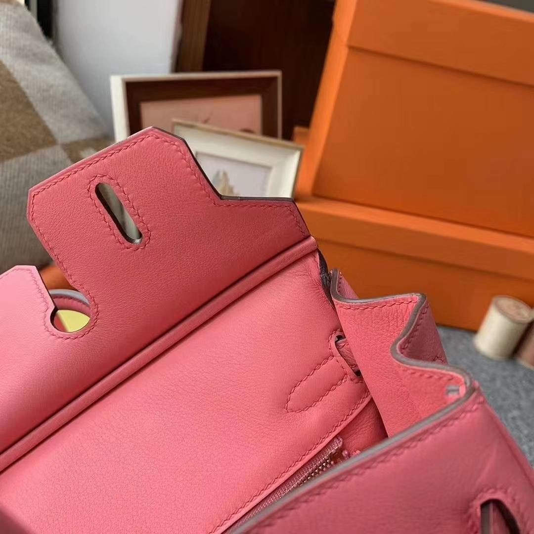 Hermès(爱马仕)8W新唇膏粉 原厂御用顶级Swift 皮 Birkin 25 金扣