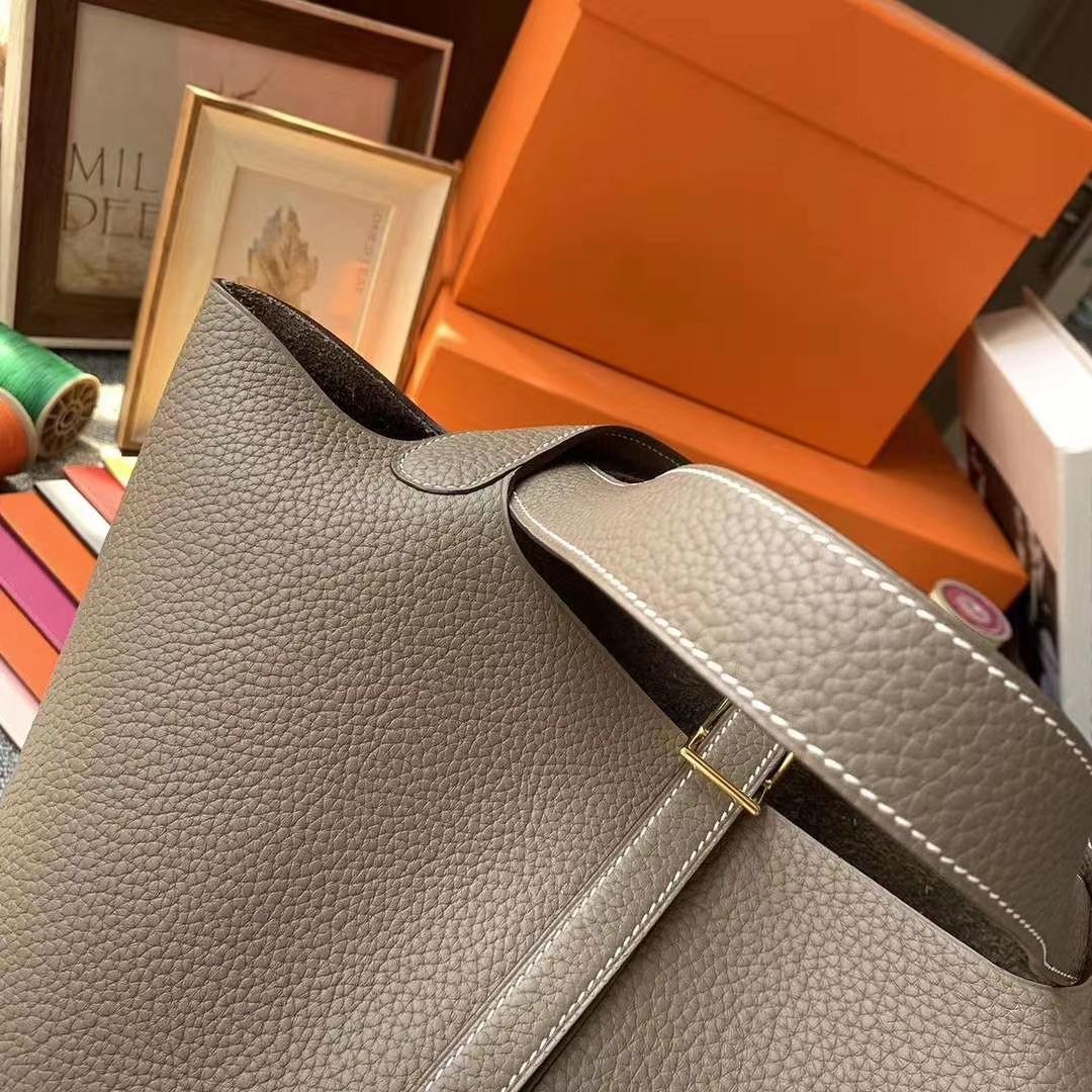 Hermès(爱马仕)CK18大象灰 原厂御顶用级TC皮 Picotin  Lock 22cm 金扣 现货
