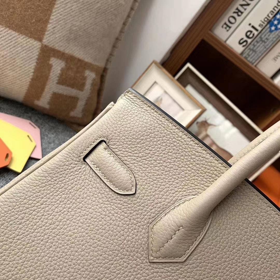 Hermès(爱马仕)CK81斑鸠灰 原厂御用顶级小牛皮 Birkin 30 金扣