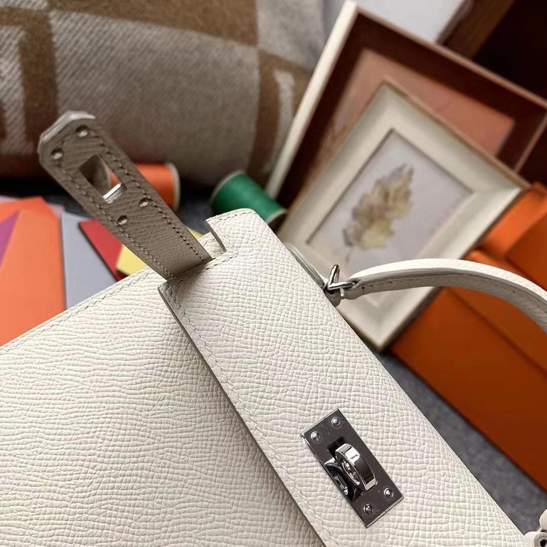 Hermès(爱马仕)Mini Kelly 2代 奶昔白 原厂御用顶级Epsom皮