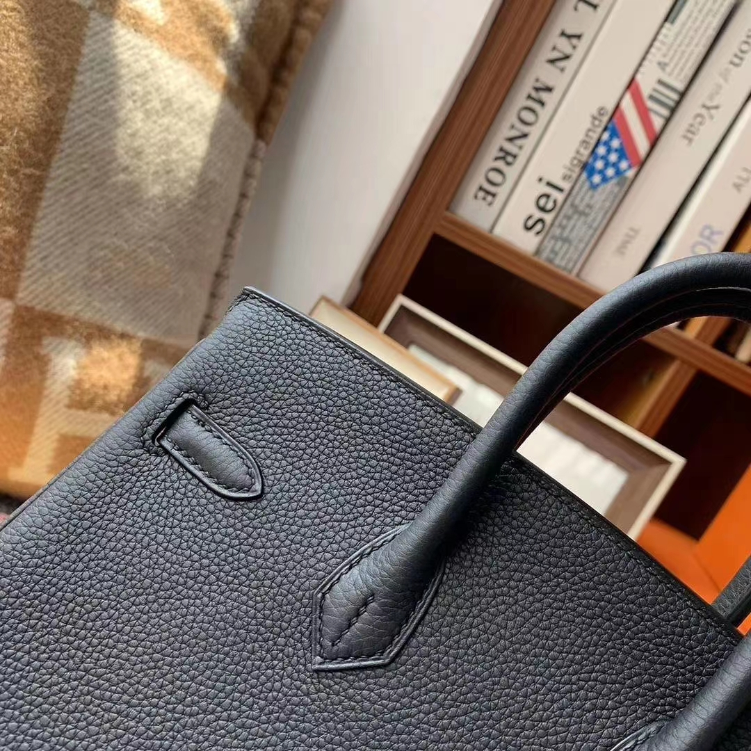 Hermès(爱马仕)CK89黑色 原厂御用顶级小牛皮 Birkin 25 银扣 现货