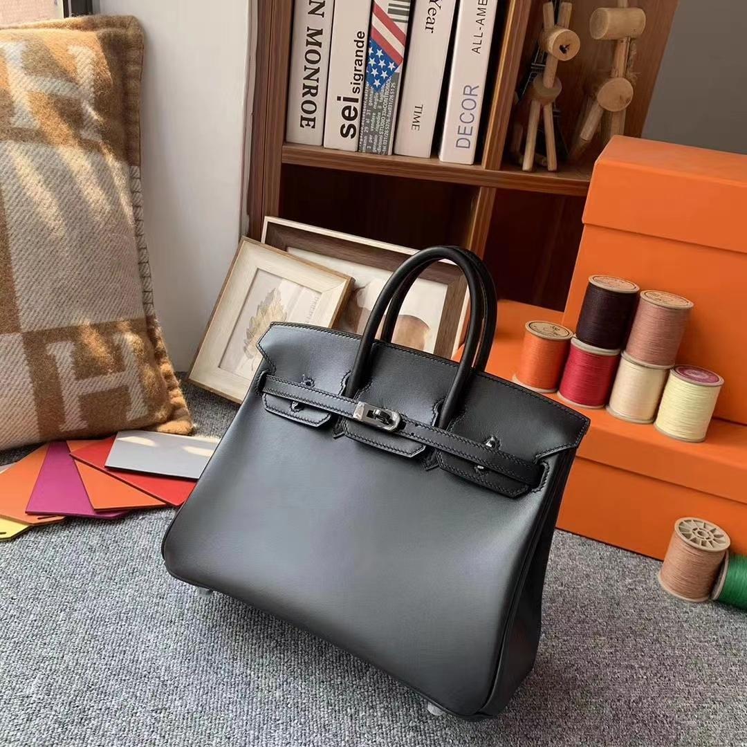 Hermès(爱马仕)CK89黑色 原厂御用顶级Box 皮 Birkin 30 So Black