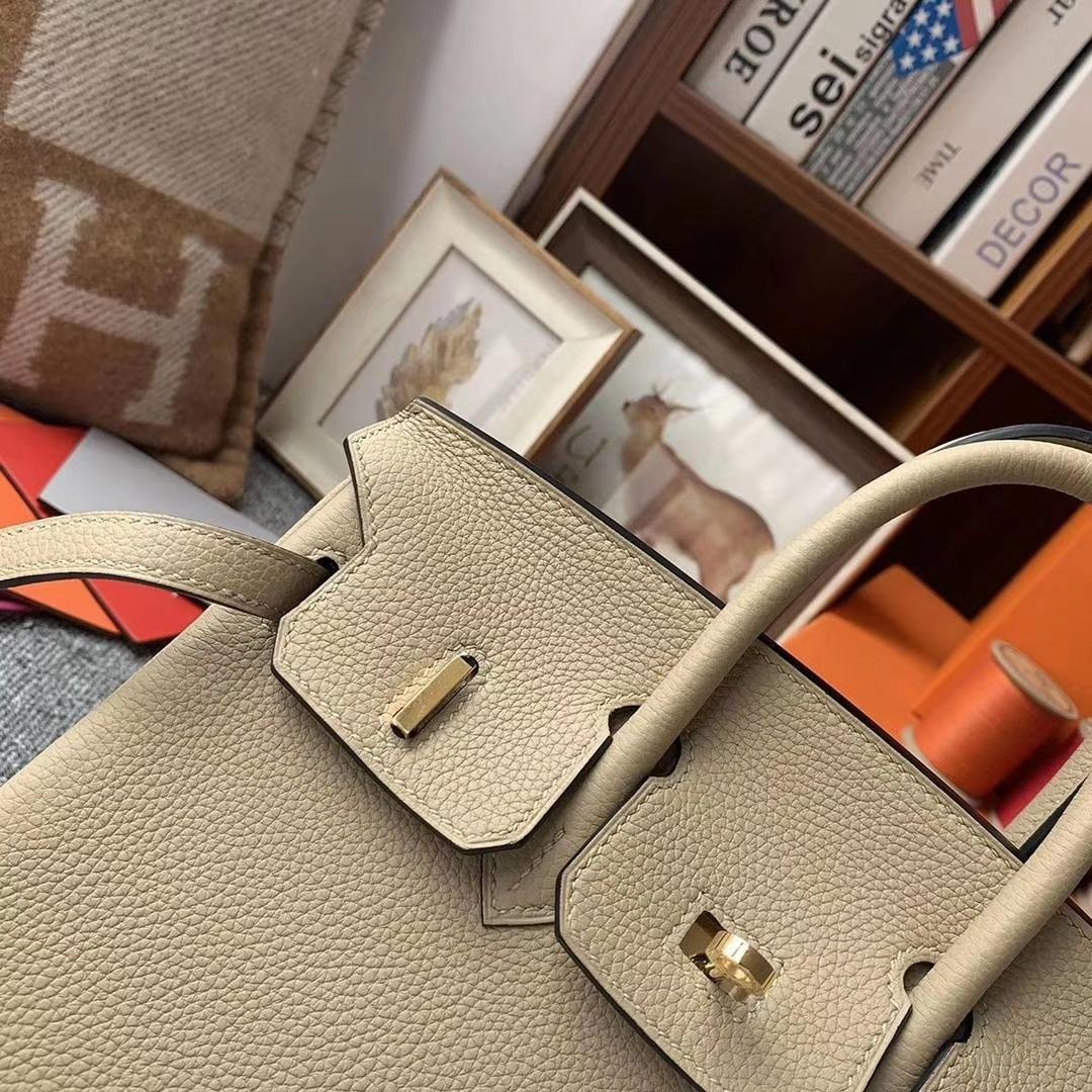 Hermès(爱马仕)S2风衣灰 原厂御用顶级小牛皮 Birkin 25 银扣 现货