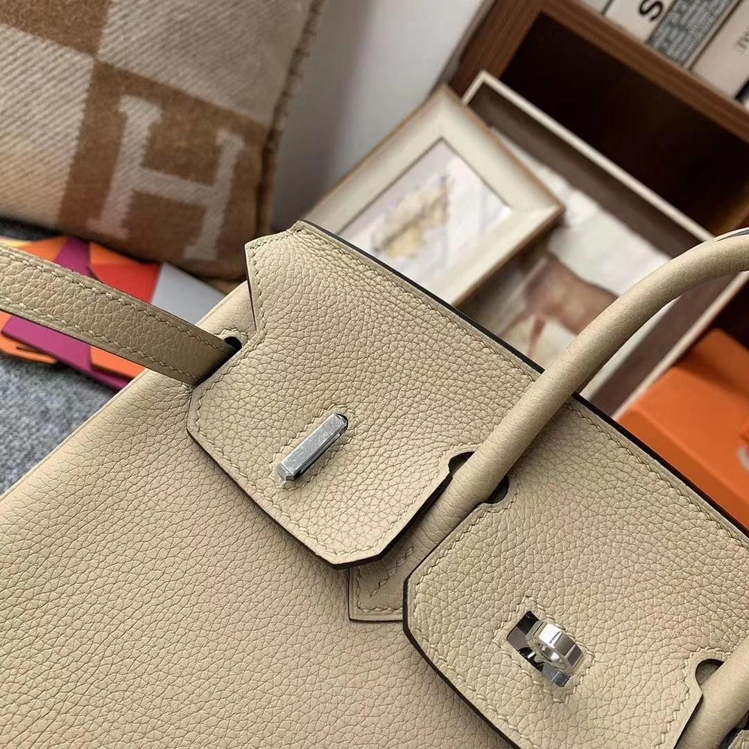 Hermès(爱马仕)S2风衣灰 原厂御用顶级小牛皮 Birkin 25 金扣 银扣 现货