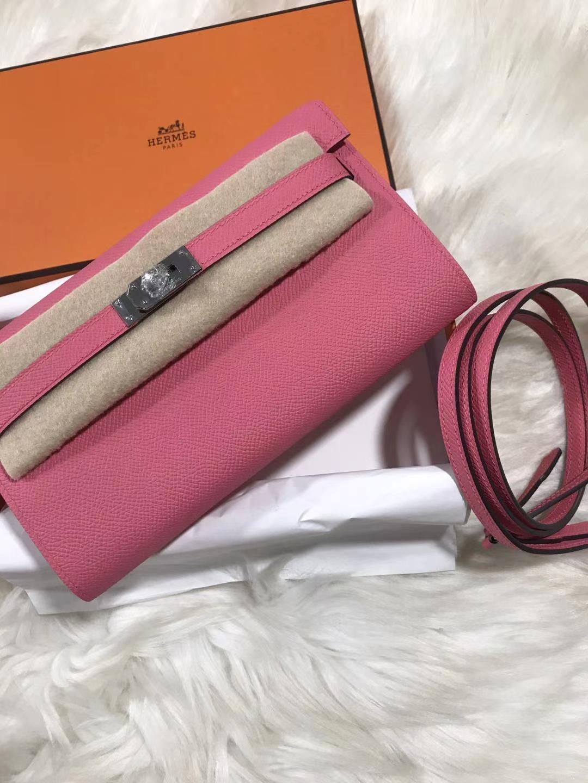 Hermès(爱马仕)kelly togo 原装等级进口epsom皮 唇膏粉 金扣 银扣现货