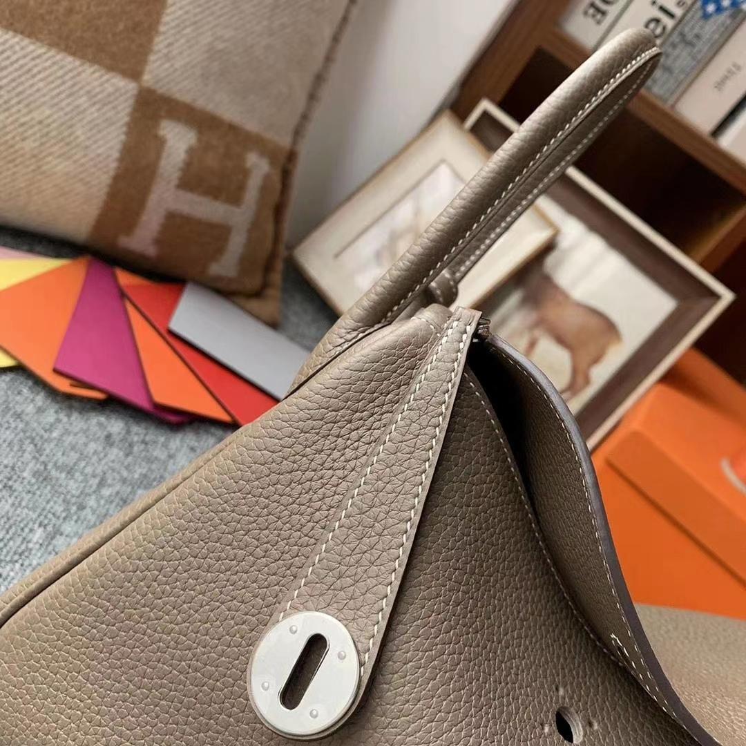 Hermès(爱马仕)CK18大象灰 原厂御用顶级TC皮 Lindy 26 银扣 现货