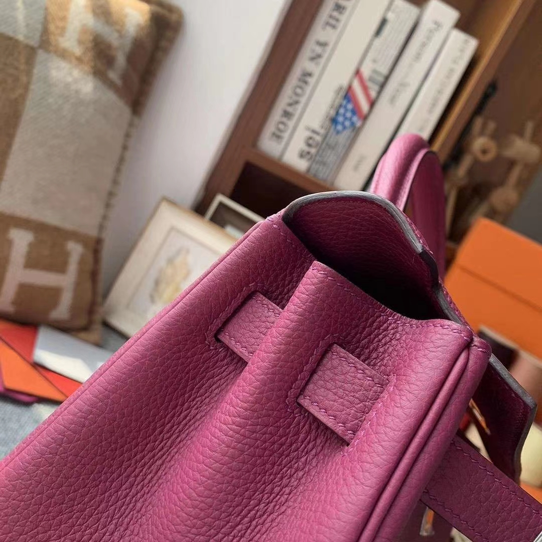 Hermès(爱马仕)K5托斯卡 原厂御用顶级小牛皮 Kelly 28 银扣