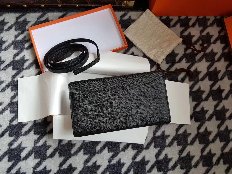 Hermès(爱马仕)woc 康斯坦斯 constance To go Epsom牛皮 cc89黑色 金扣