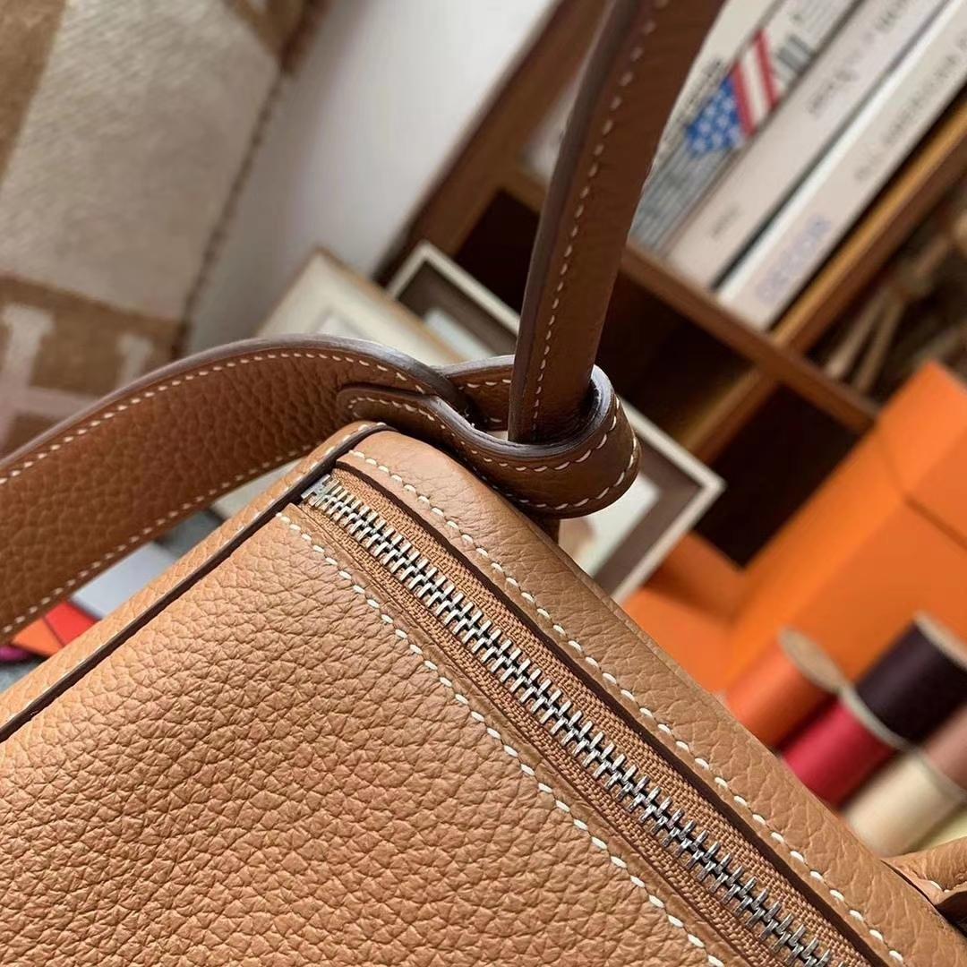 Hermès(爱马仕)C37金棕色 原厂御用顶级TC皮 Lindy 26 金扣 银扣 现货
