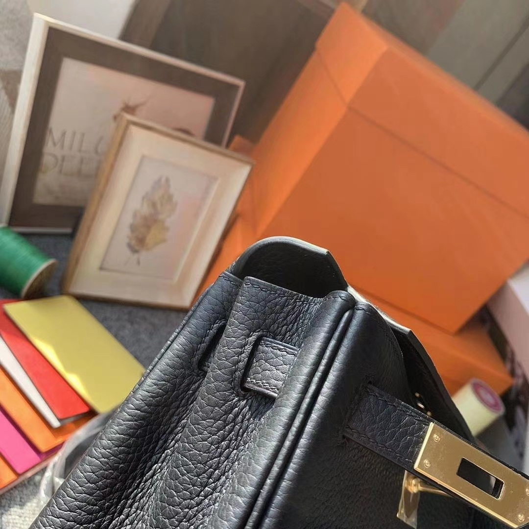 Hermès(爱马仕)CK89黑色 原厂御用顶级TC皮 Kelly ado 金扣 现货