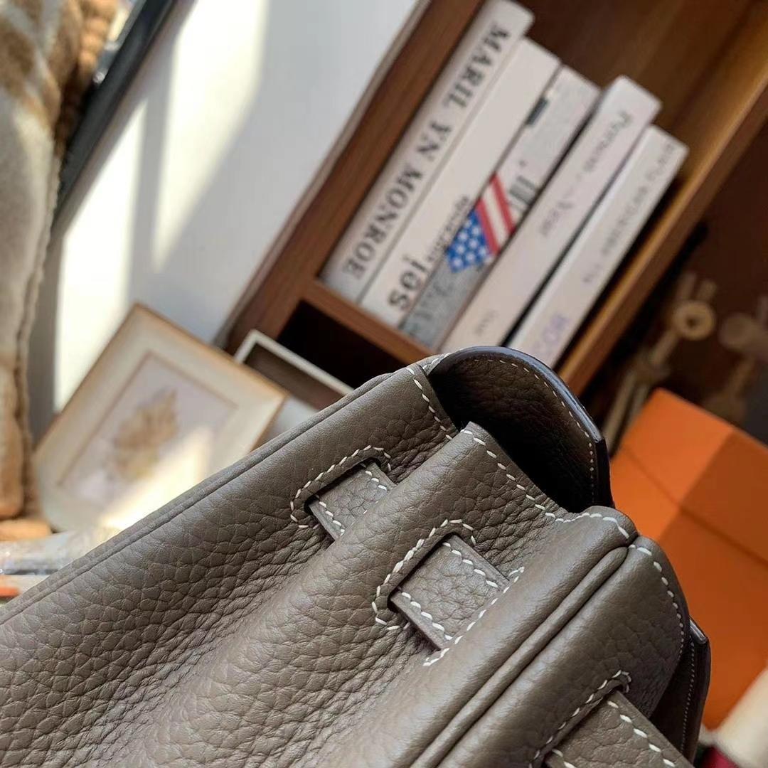 Hermès(爱马仕)CK18大象灰 原厂御用顶级TC皮 Kelly ado 金扣 现货