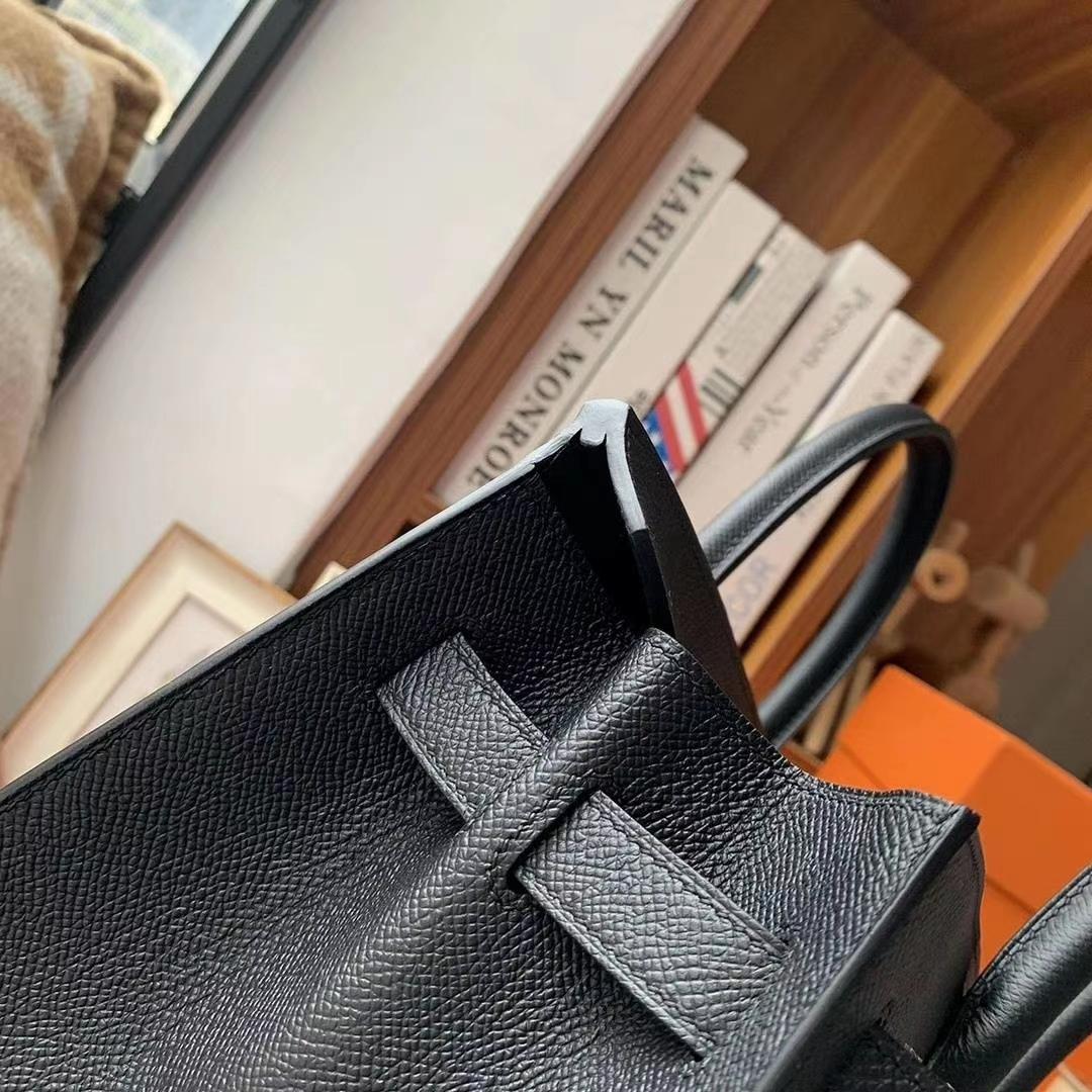 Hermès(爱马仕)CK89黑色 原厂御用顶级Epsom 皮 Birkin 30 外缝 金扣
