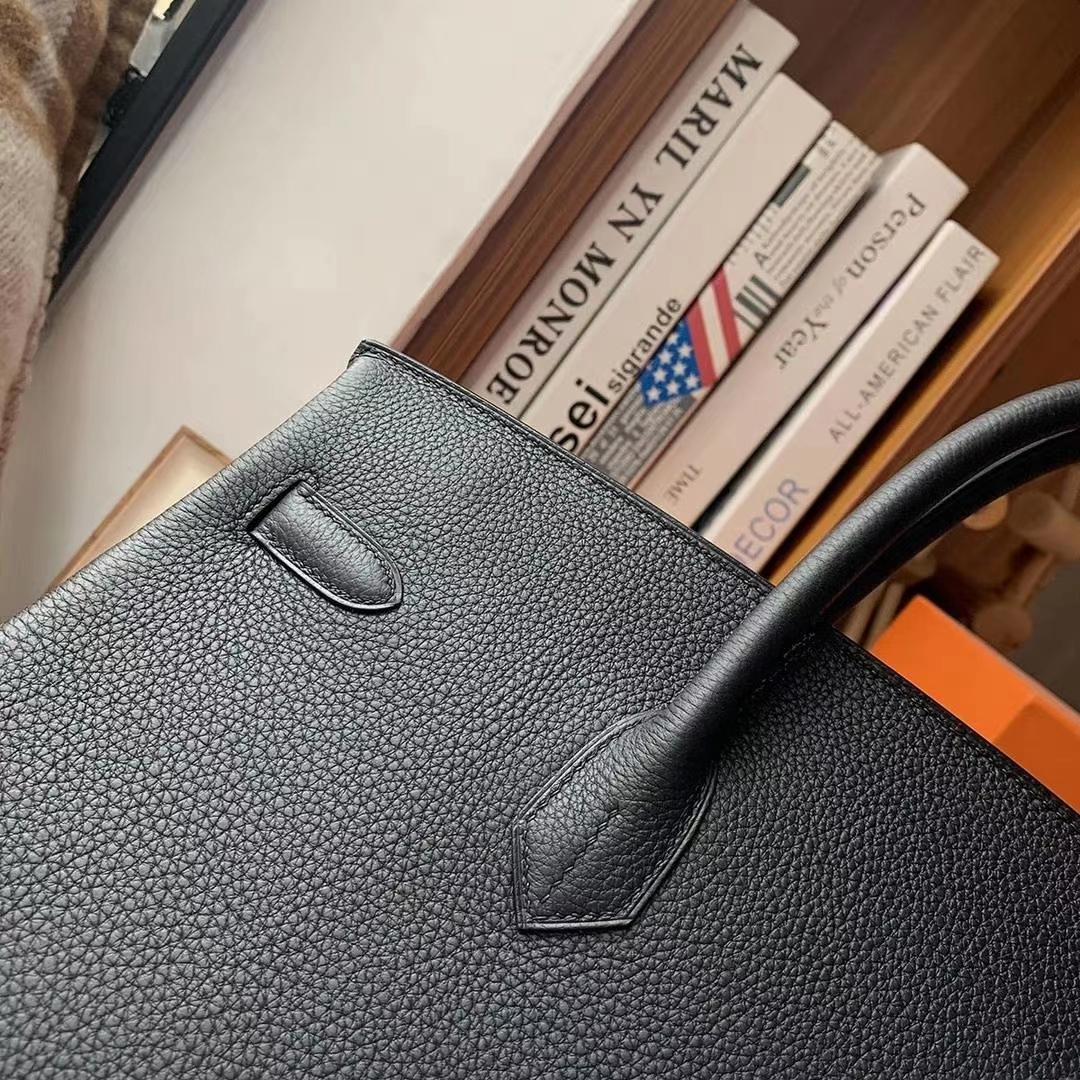 Hermès(爱马仕)CK89黑色 原厂御用顶级小牛皮 Birkin 40 金扣