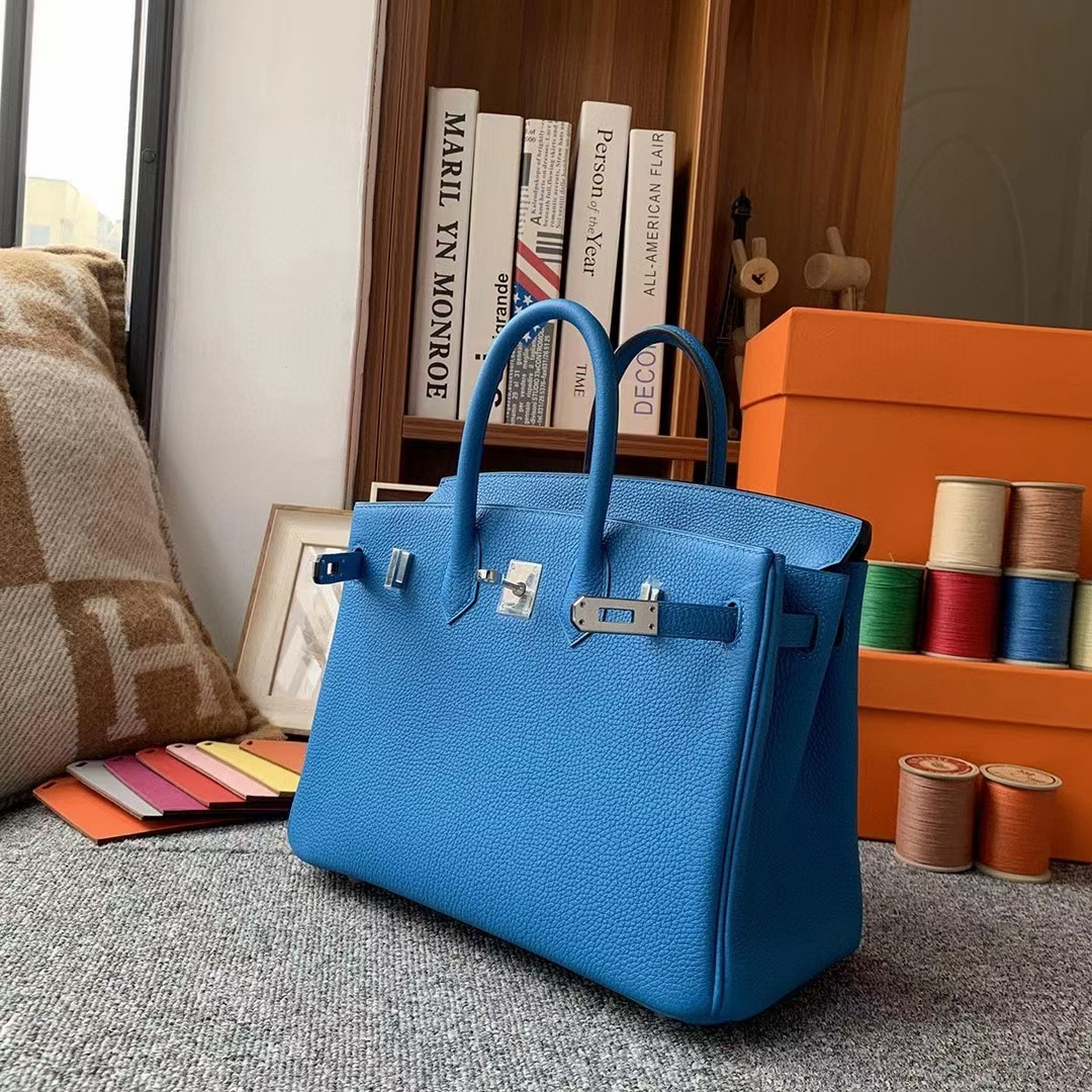 Hermès(爱马仕)B3坦桑尼亚蓝 原厂御用顶级小牛皮 Birkin 25 银扣