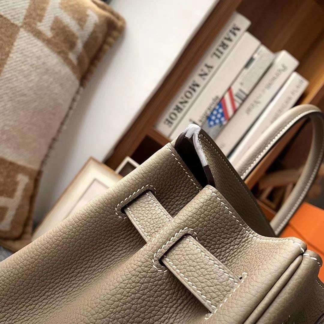 Hermès(爱马仕)CK18大象灰 原厂御用顶级小牛皮 Birkin 30 金扣