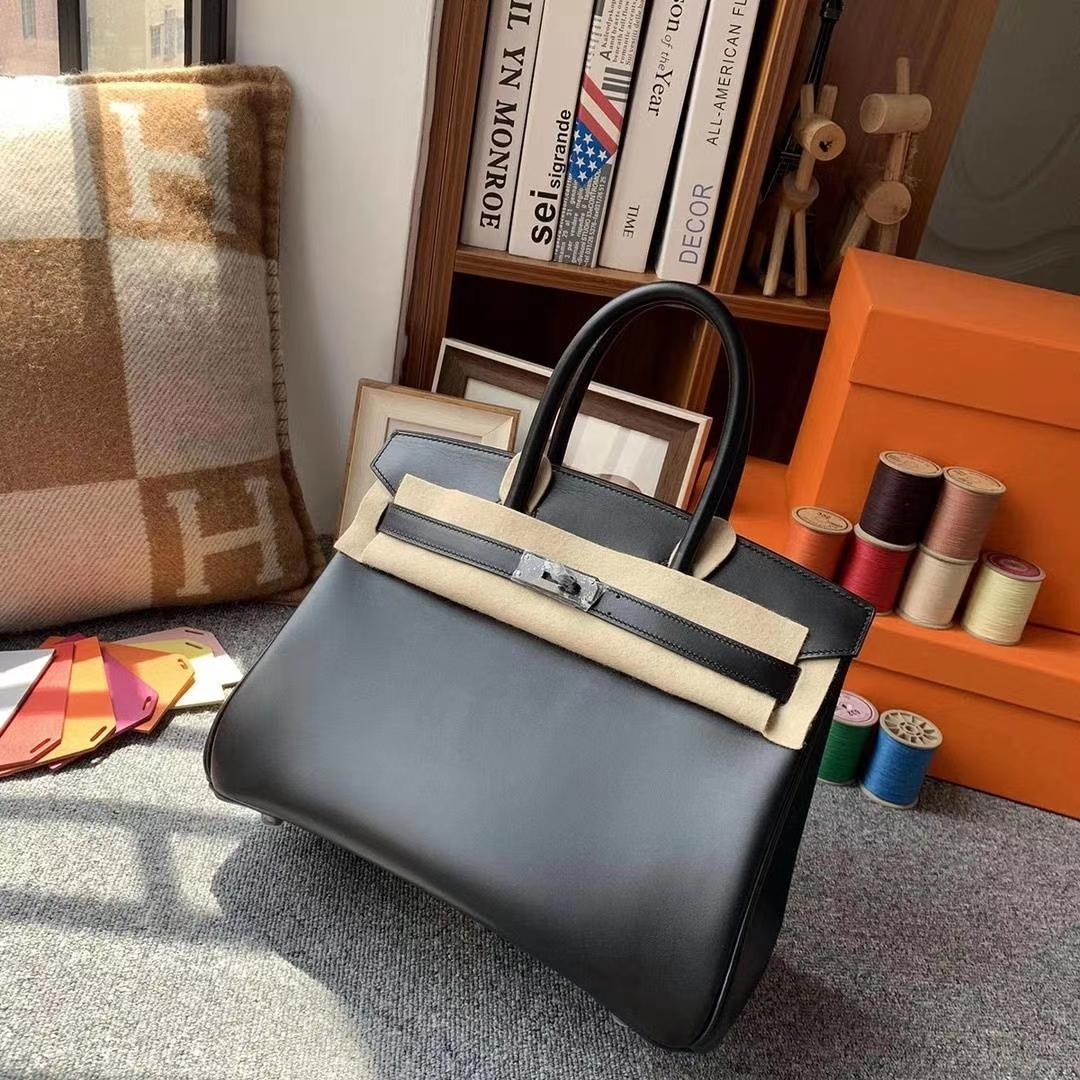 Hermès(爱马仕)CK89黑色 原厂御用顶级Box皮 Birkin 30 So Black