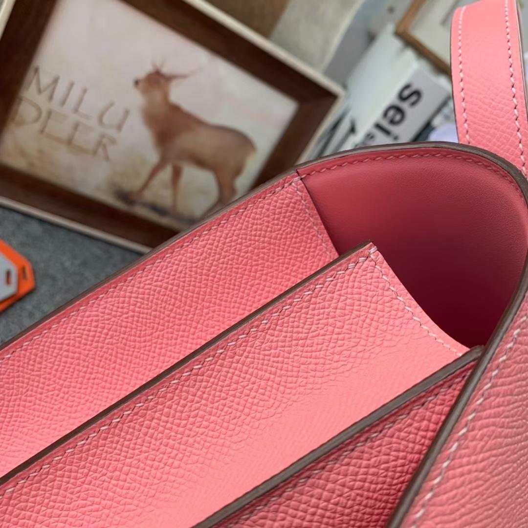 Hermès(爱马仕)Constance 空姐包 奶昔粉 原厂御用顶级Epsom 皮 24cm