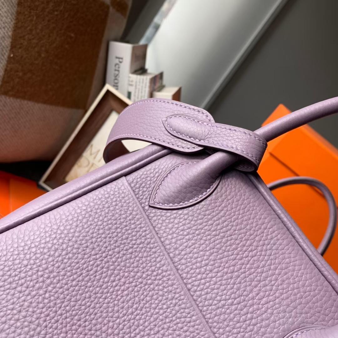 Hermès(爱马仕)Lindy 琳迪包 洋芋紫 原厂御用顶级TC皮 银扣 30cm