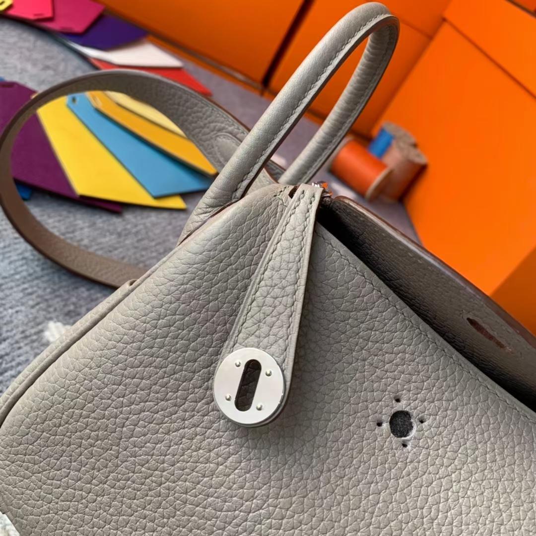 Hermès(爱马仕)Mini Lindy 迷你琳迪 M8沥青灰 原厂御用顶级Tc皮 银扣 现货