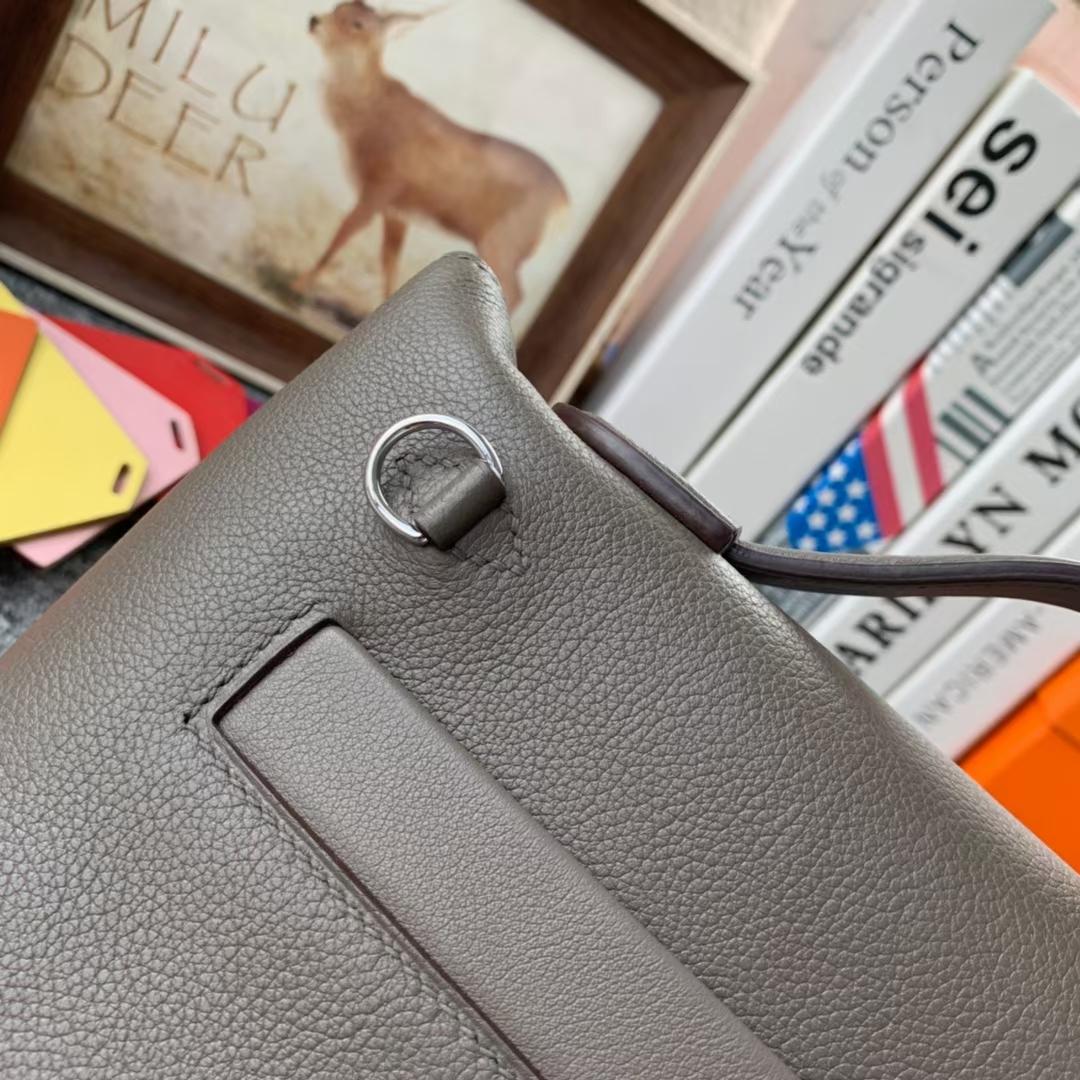 Hermès(爱马仕)Mini Kelly 2424 锡器灰 原厂御用顶级Ever Color皮拼Swift 皮 银扣 现货