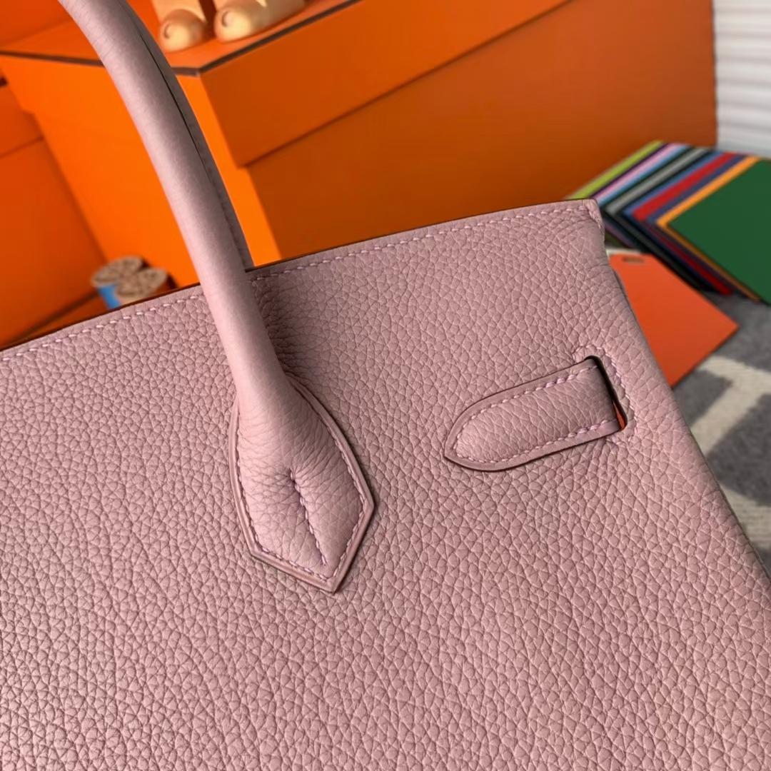 Hermès(爱马仕)Birkin 铂金包 4W 紫藤色 原厂御用顶级小牛皮 金扣 30cm