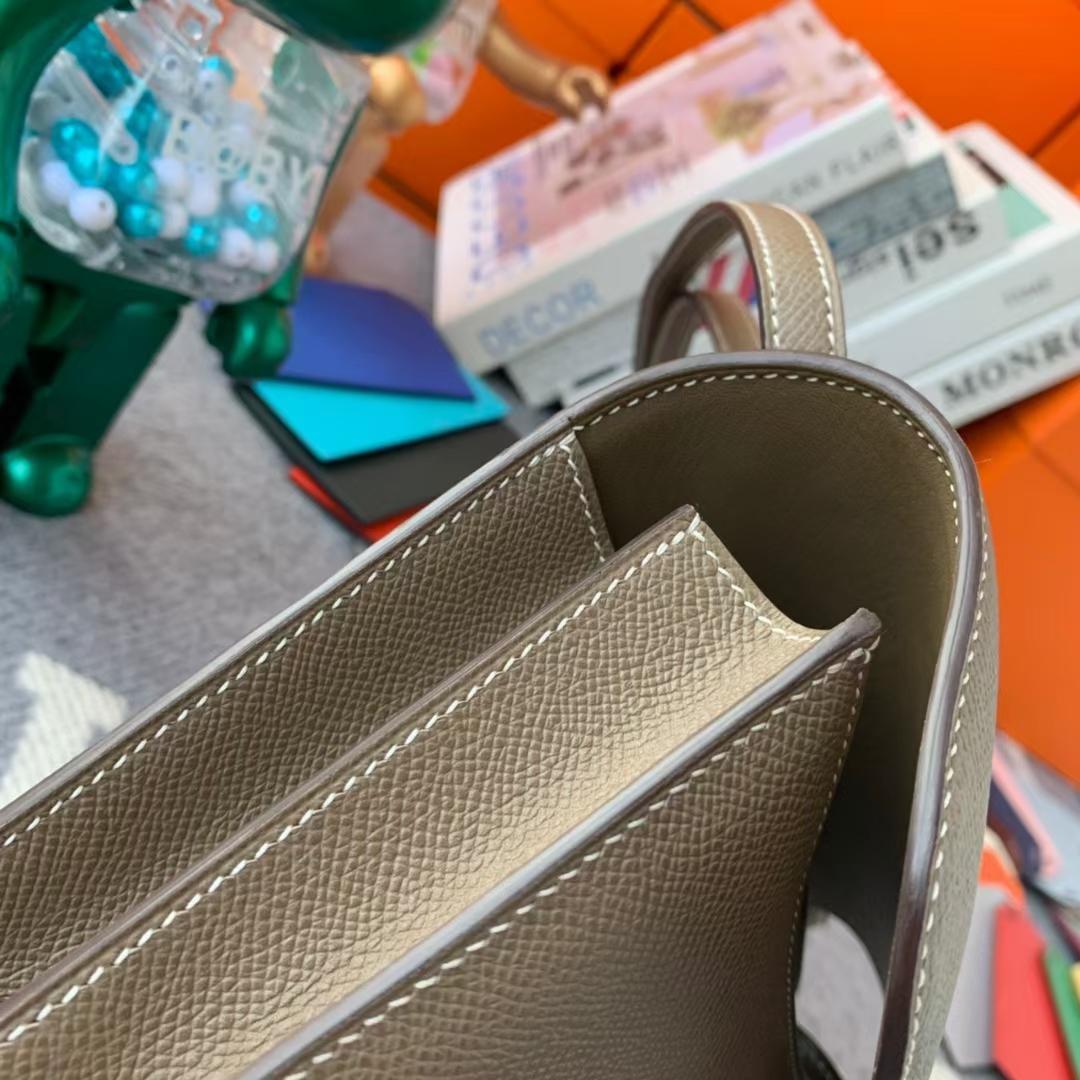 Hermès(爱马仕)Constance 空姐包 CK18 大象灰 原厂御用顶级Epsom皮 19 银扣 现货