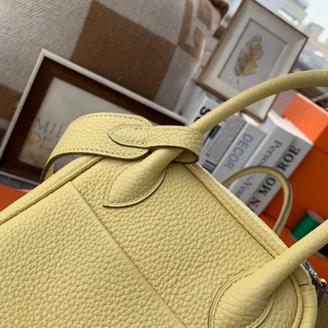 Hermès(爱马仕) Lindy 琳迪包 小鸡黄 原厂御用顶级TC 皮 银扣 26cm