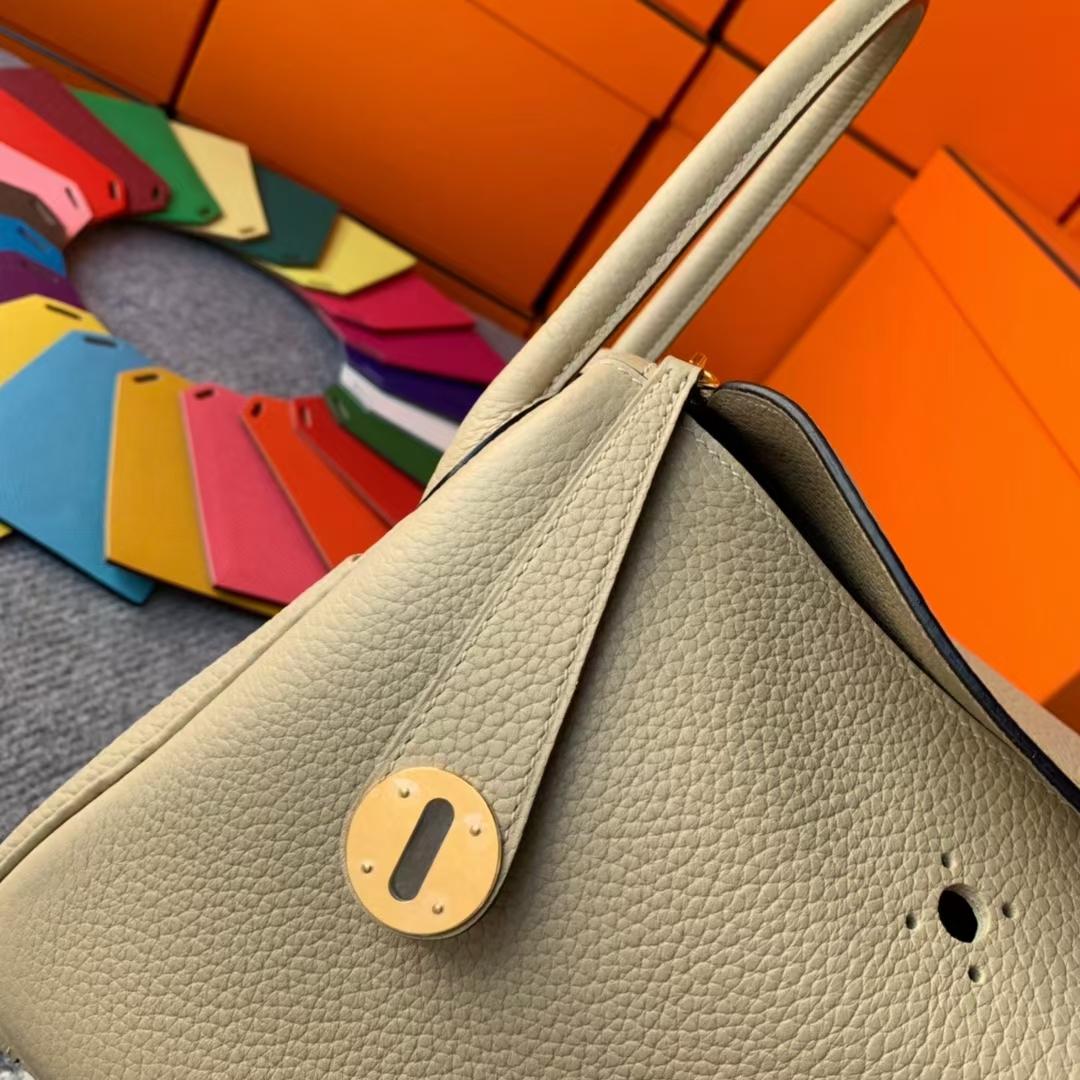 Hermès(爱马仕)Lindy 琳迪包 S2 风衣灰 原厂御用顶级TC皮 金扣 26cm 现货