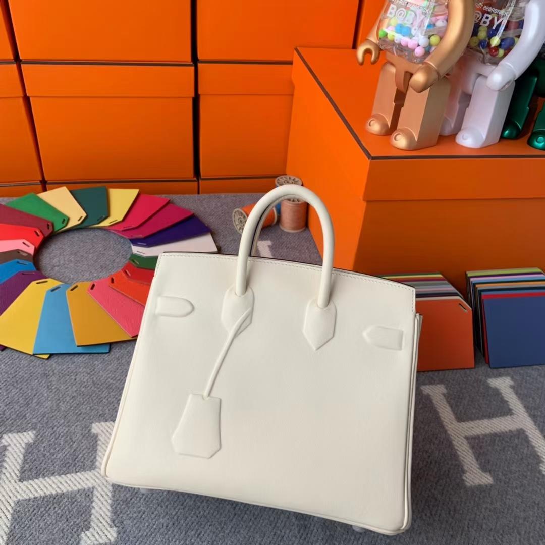 Hermès(爱马仕)Birkin shadow 幻影包 奶油白 原厂御用顶级Swift皮 25cm