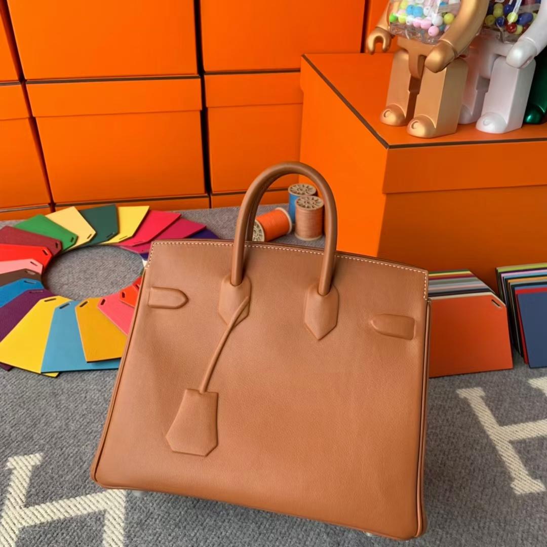 Hermès(爱马仕)Birkin shadow 幻影包 金棕色 原厂御用顶级Swift皮 25cm