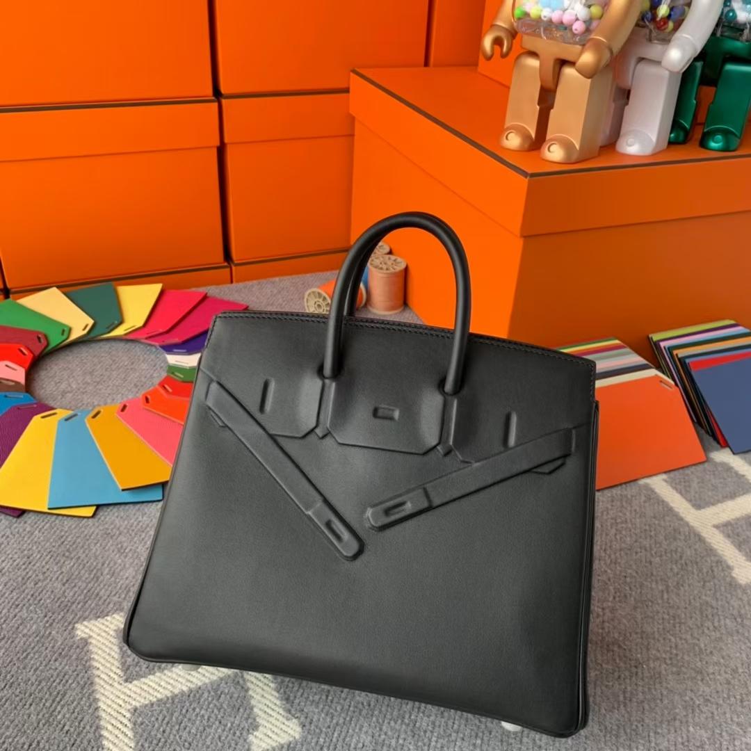 Hermès(爱马仕)Birkin shadow 幻影包 CK89黑色 原厂御用顶级Swift皮 25cm 现货
