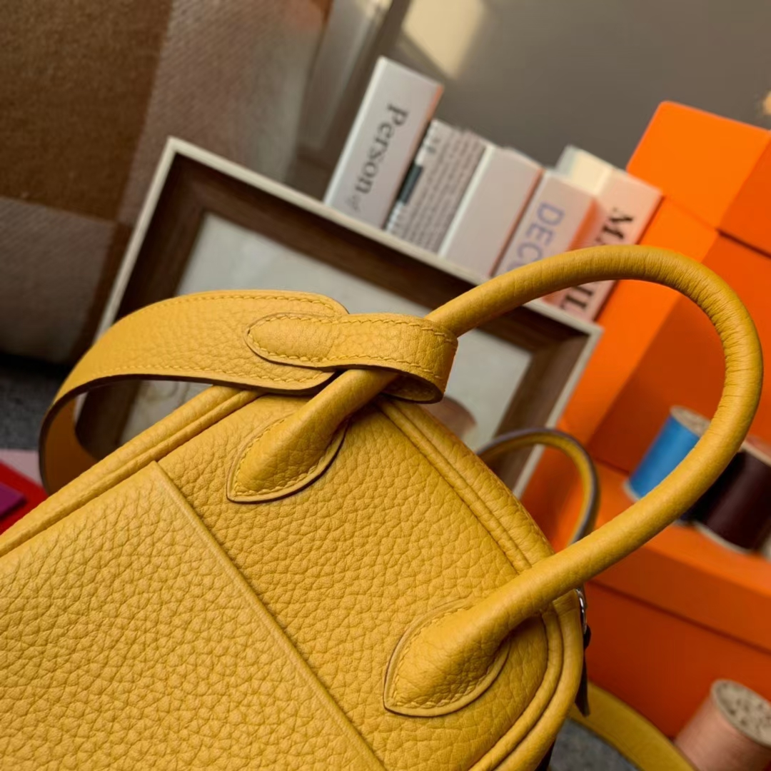 Hermès(爱马仕)Mini Lindy 迷你琳迪 琥珀黄 原厂御用顶级TC皮 金扣 20cm