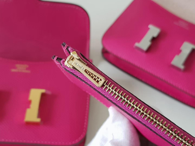 Hermès(爱马仕)Constance 康康 slim epsom牛皮 墨西哥粉 金扣