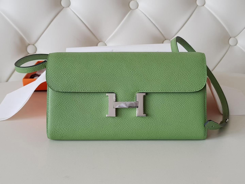 Hermès(爱马仕)Constance 康康 woc to go 牛油果绿 epsom牛皮 银扣