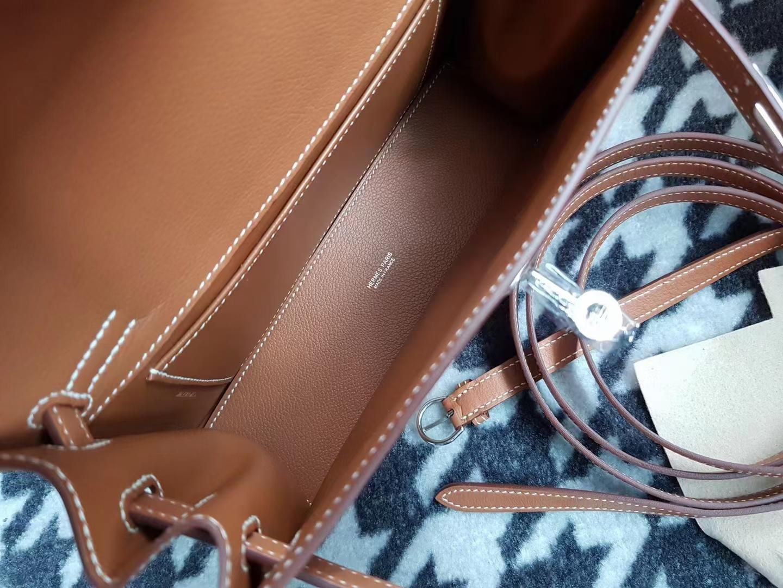 Hermès(爱马仕)Kelly danse 跳舞包 Evecolor 金棕色 银扣 22cm